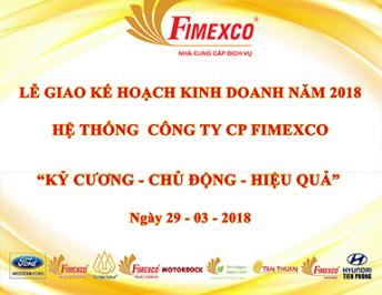 THE MEETING OF ASSIGNING THE 2018 BUSINESS TARGET OF FIMEXCO JSC