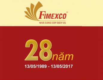 LETTER OF CONGRATULATIONS AND THANKS TO THE 28TH FOUNDATION ANNIVERSARY OF FIMEXCO JOINT STOCK COMPANY