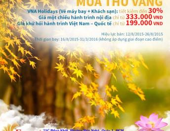 Enjoy the splendid autumn flying with Vietnam Airlines by using the plane ticket service of FIMEXTRAVEL