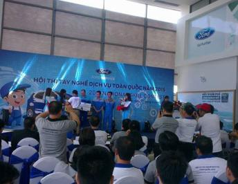 Western Ford gets the second prize in the 2015 national skill contest held by Ford Vietnam