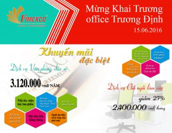 FIMEXCO OFFICE OPENS THE BRANCH AT 45 TRUONG DINH STREET, WARD 6, DISTRICT 3, HOCHIMINH CITY, AND WITH BIG PROMOTION